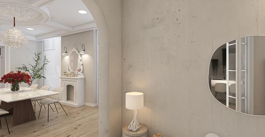 White penthouse in Paris Interior Design Render