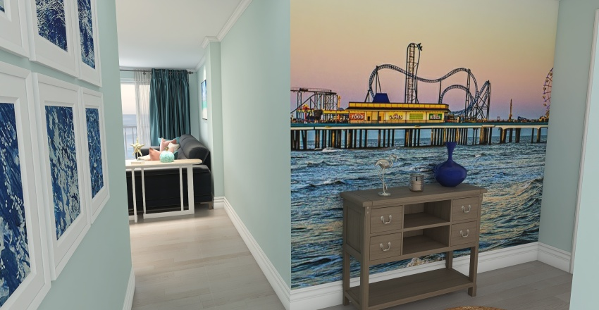Galveston condo Interior Design Render