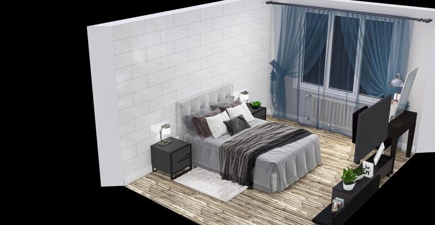 спальня готовая Interior Design Render