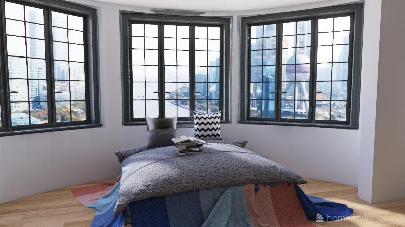 Modern Art House Interior Design Render
