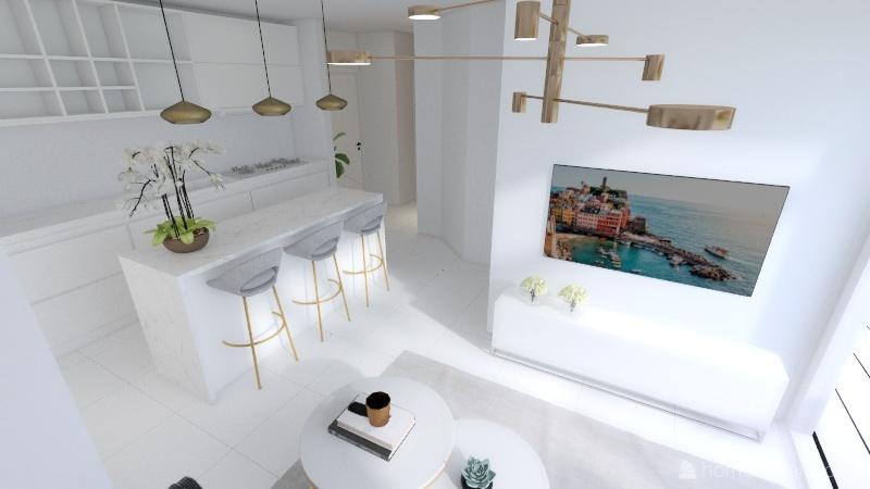 Alte Donau wohnung Interior Design Render
