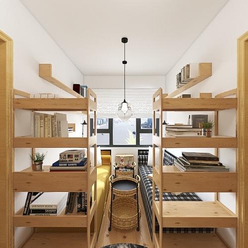 Дизайн-проект жилой ячейки к-са Interior Design Render