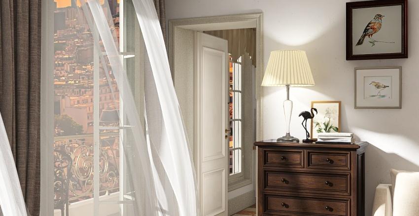 Paris Apartment Interior Design Render