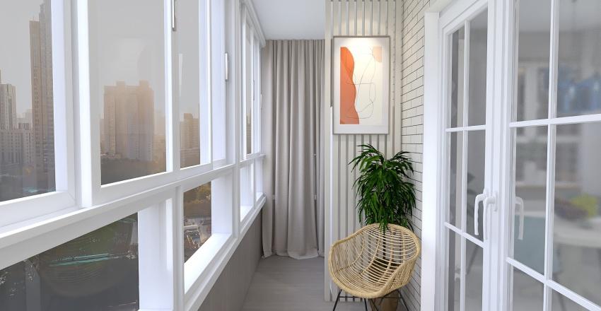 гостиная миндаль и топаз Interior Design Render