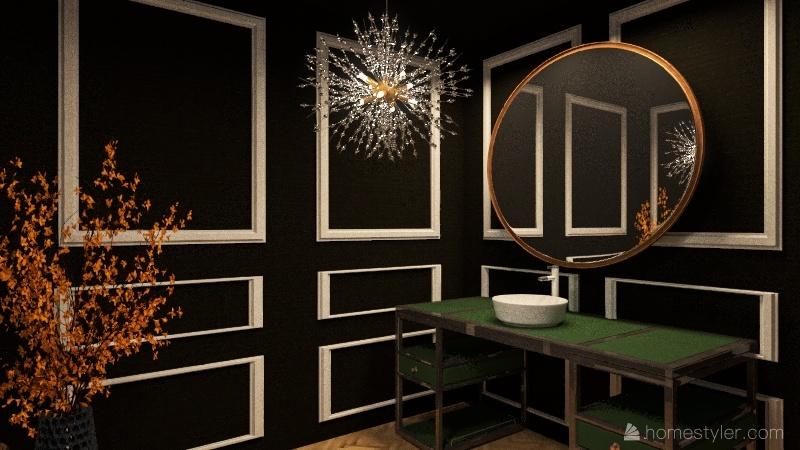 Duplex molding style apartments Interior Design Render