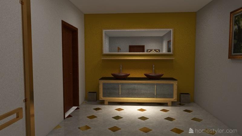 Modern 3 bed Interior Design Render