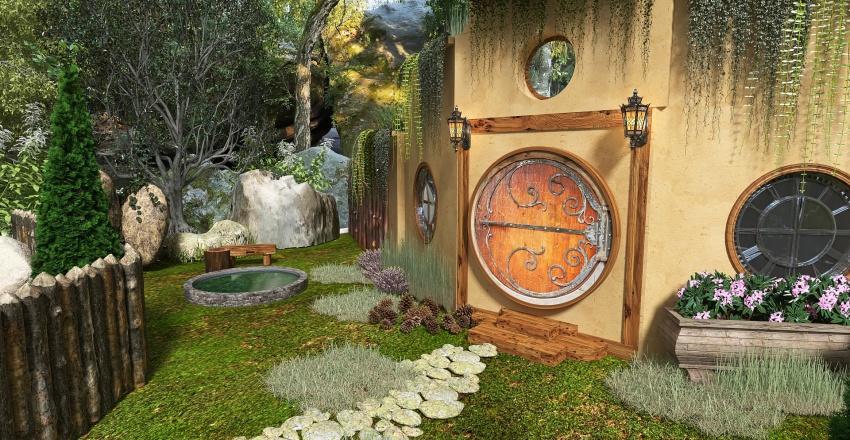 maison hobbit Interior Design Render