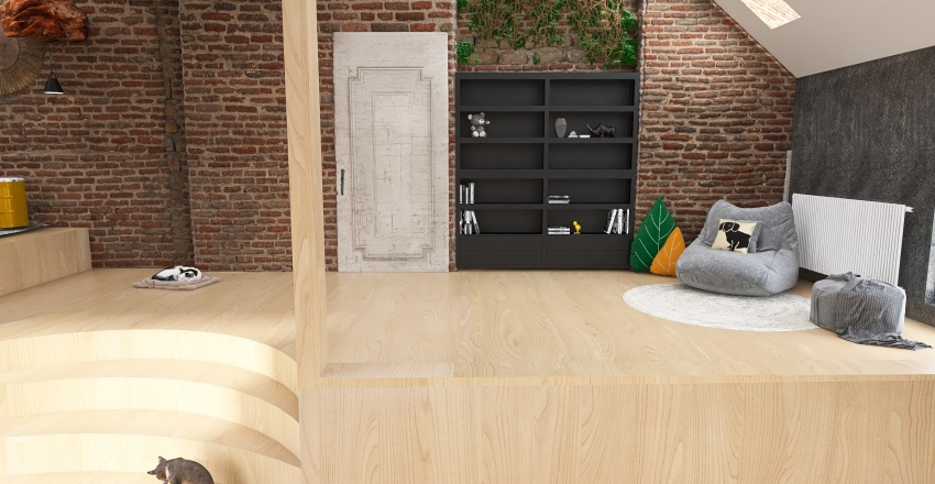 apartment before and after Interior Design Render
