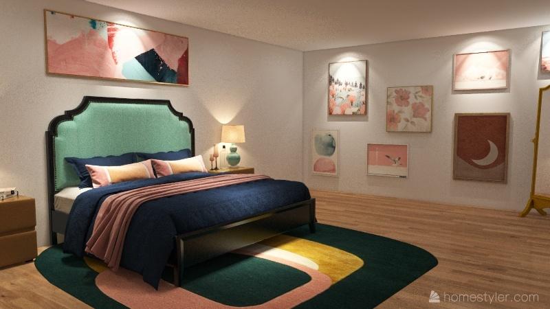 Single Family Home Interior Design Render