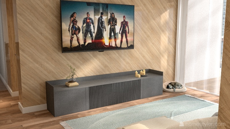 """Casa simples """"moderna"""" Interior Design Render"""