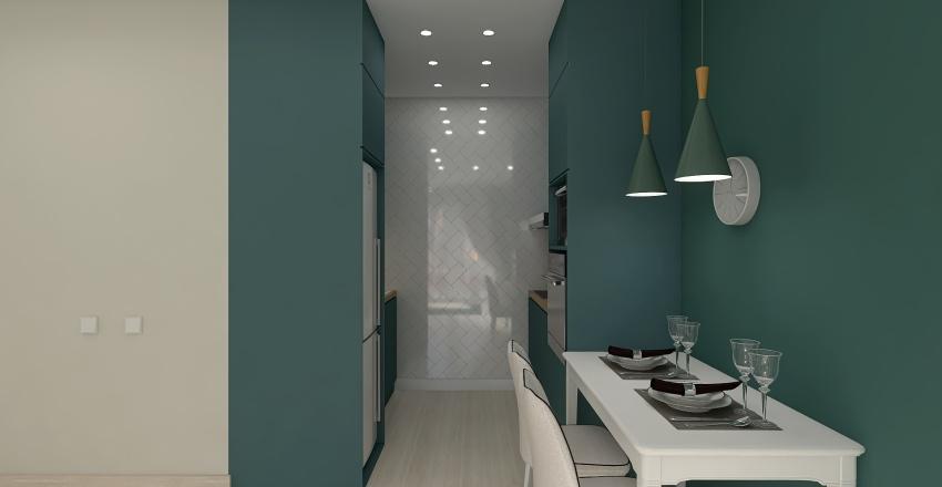 7 вариант Кухня-гостиная АВГУСТ 3 Interior Design Render