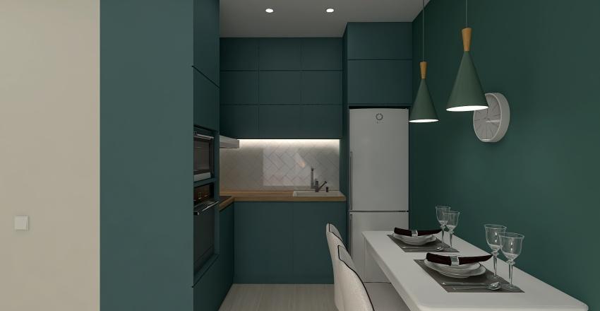 6 вариант Кухня-гостиная АВГУСТ 2 Interior Design Render