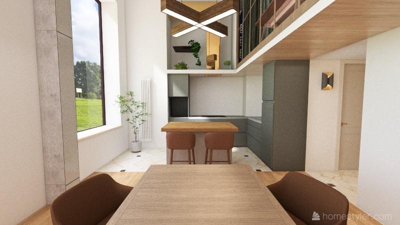 Homecity 11-2, постирочная слева Interior Design Render