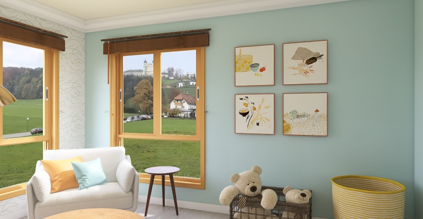 baby room Interior Design Render