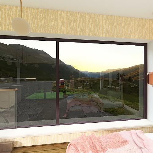 Comfortable Mountain Flat Interior Design Render