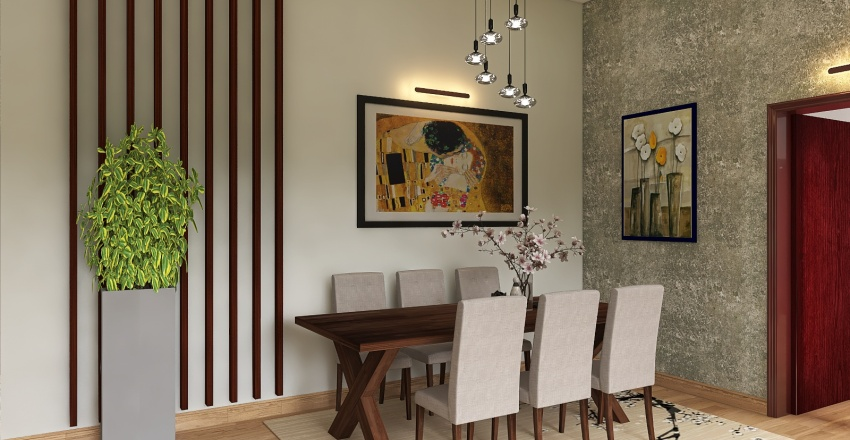 house in the woods. Interior Design Render