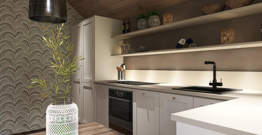 fyra svenska kök - four Swedish kitchen Interior Design Render