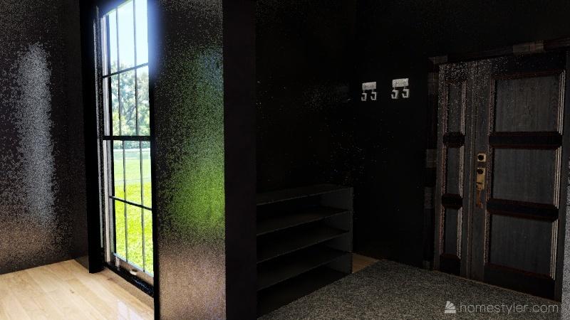 дом круглое окно Interior Design Render