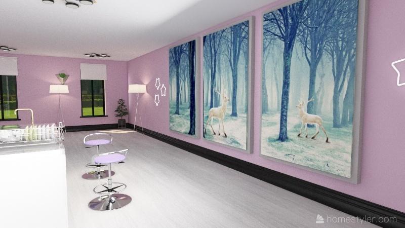 Myagi Cafe & Apartment. Interior Design Render