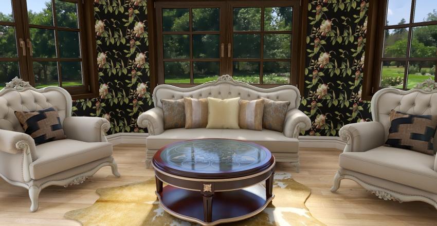 traditional living room Interior Design Render
