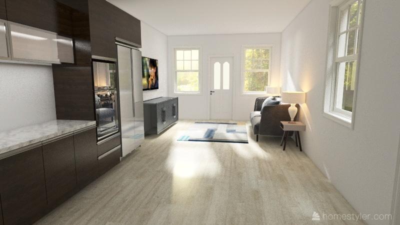 small house rams horn Interior Design Render