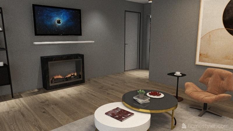 AP preto e branco Interior Design Render