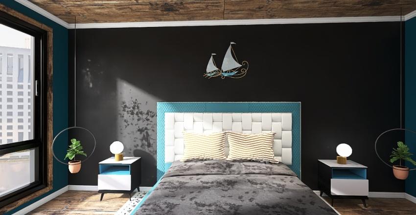 Blue Flat Interior Design Render