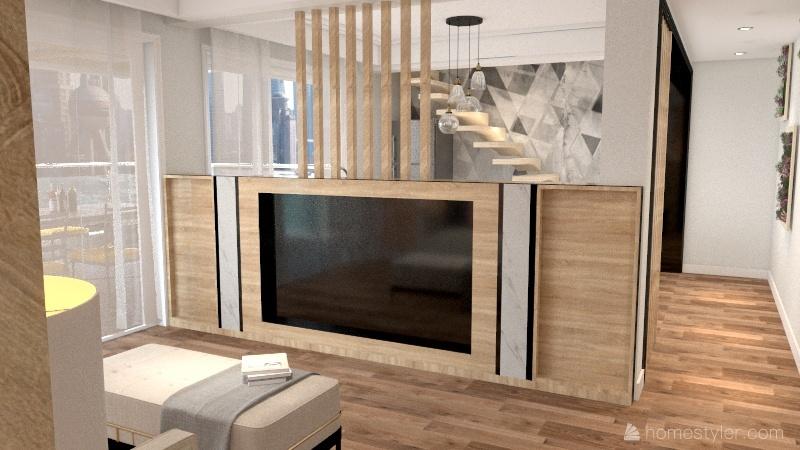 Home - Soft Hues, Natural Wood Tones Interior Design Render