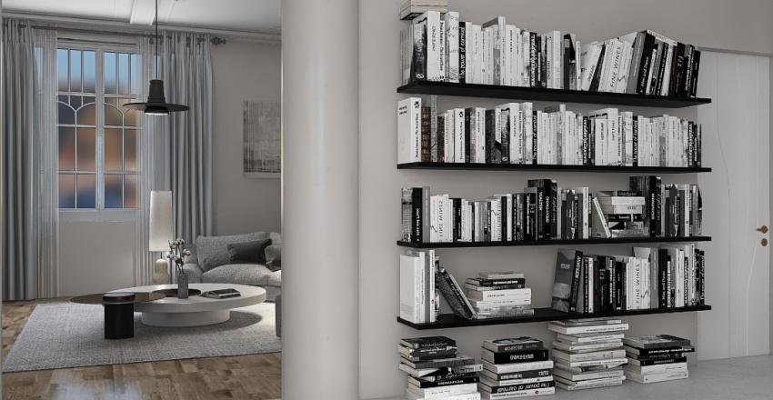 italian minimalist style appartement Interior Design Render