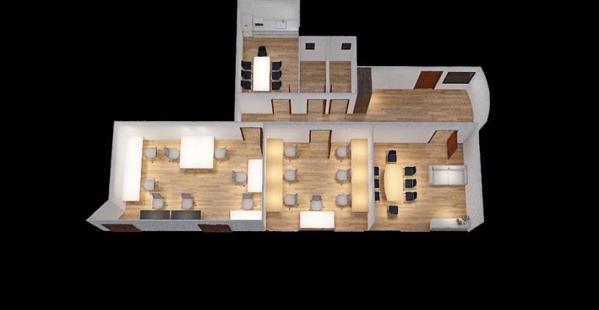 Public Oficina Roger Lluria Interior Design Render