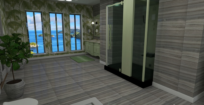 Plant Getaway Interior Design Render