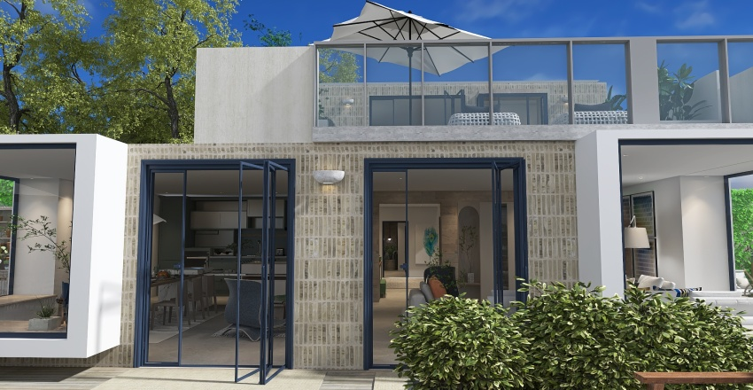 Summer house, summer vibes! Interior Design Render