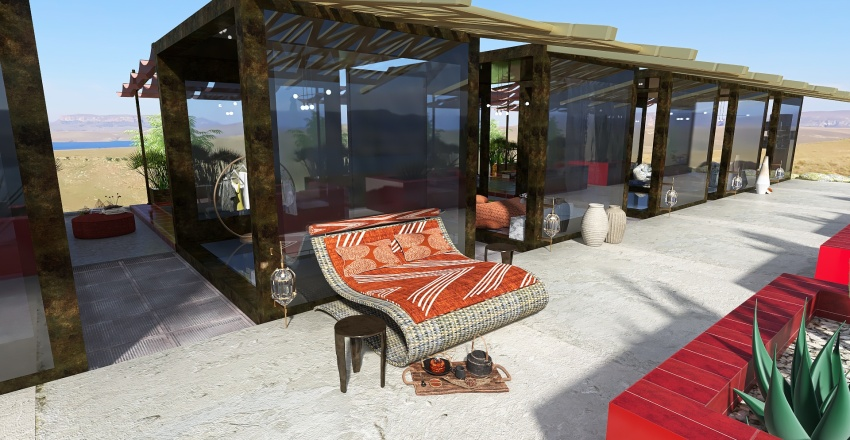 maison cube Interior Design Render