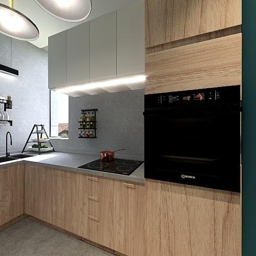 Apartamentul A - Alice si cele 2 pisici Interior Design Render