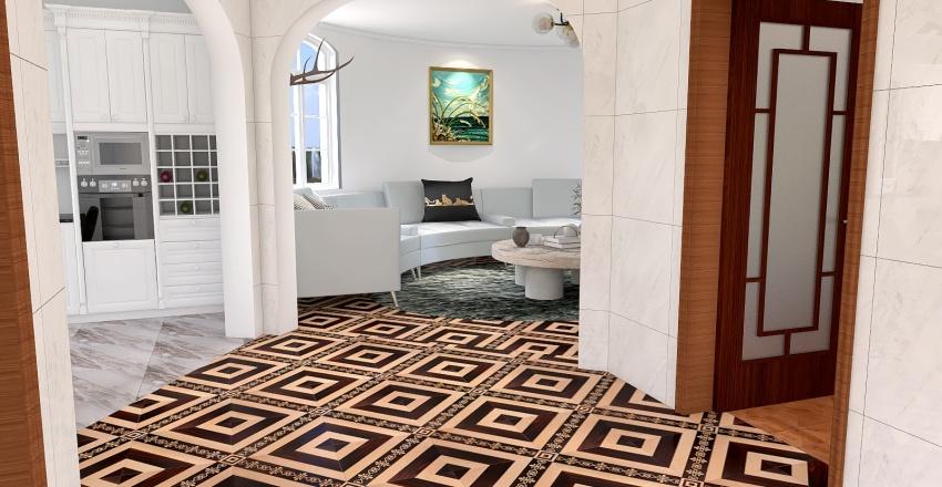 Rich Modern House Interior Design Render