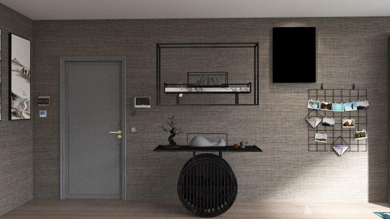 Piso de dos plantas Interior Design Render