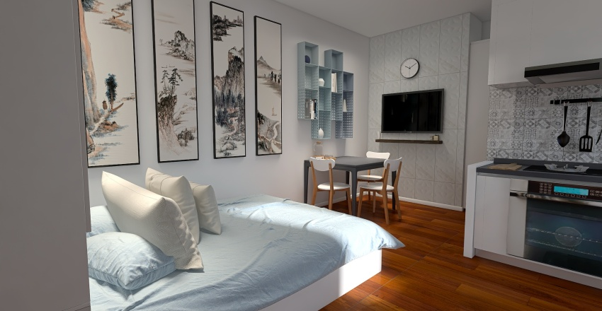 monolocale Interior Design Render