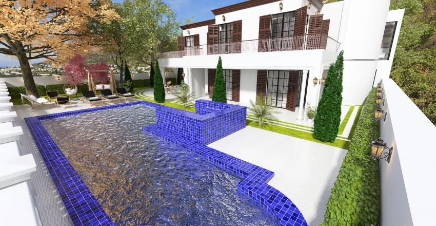 the beach house on malibu Interior Design Render