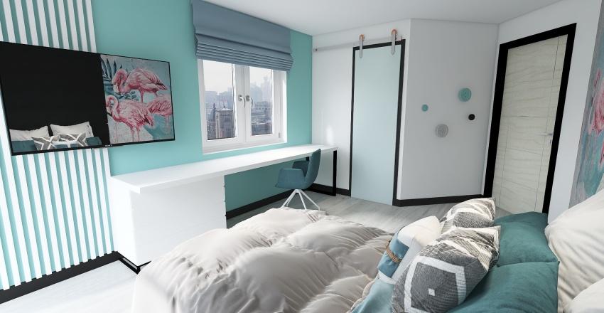 10year old girls room Interior Design Render