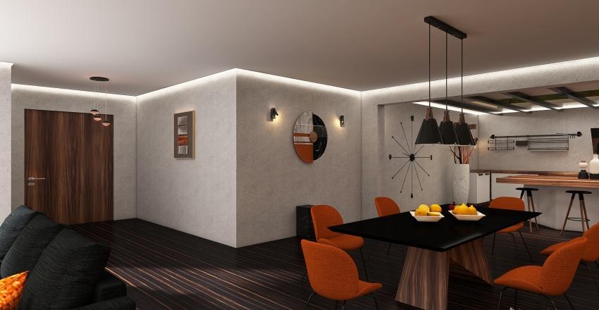 Industrial House Interior Design Render