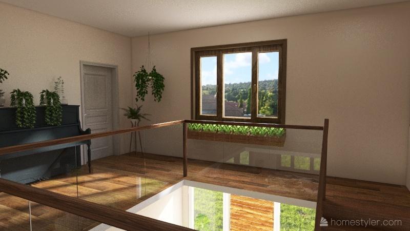 Massachussets house Interior Design Render
