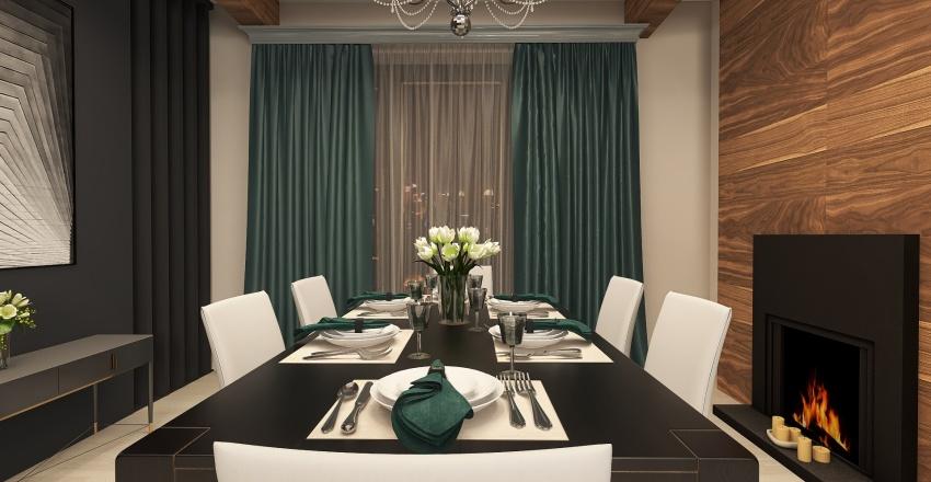 Проект двухуровневой квартиры Interior Design Render