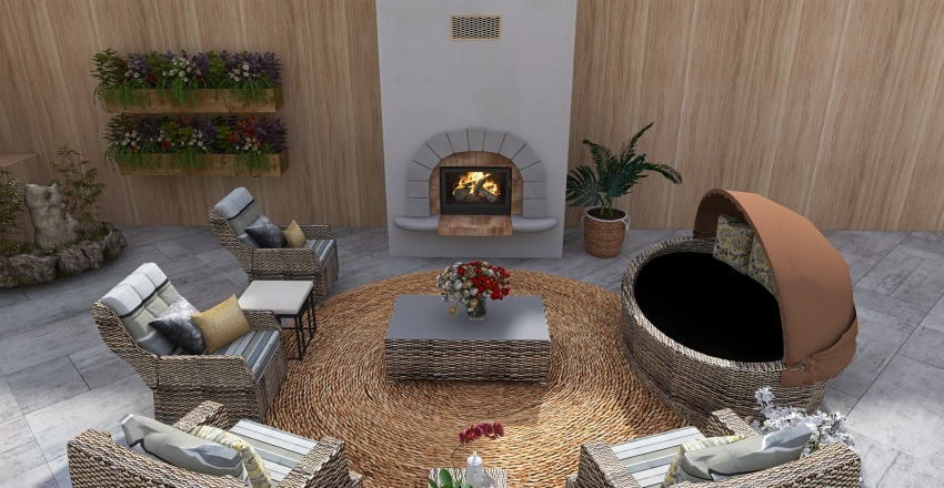 Vacation at home/birthday party Interior Design Render