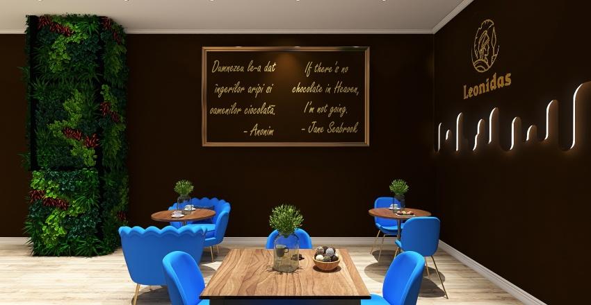 Ciocolaterie Leonidas Ploiesti Interior Design Render