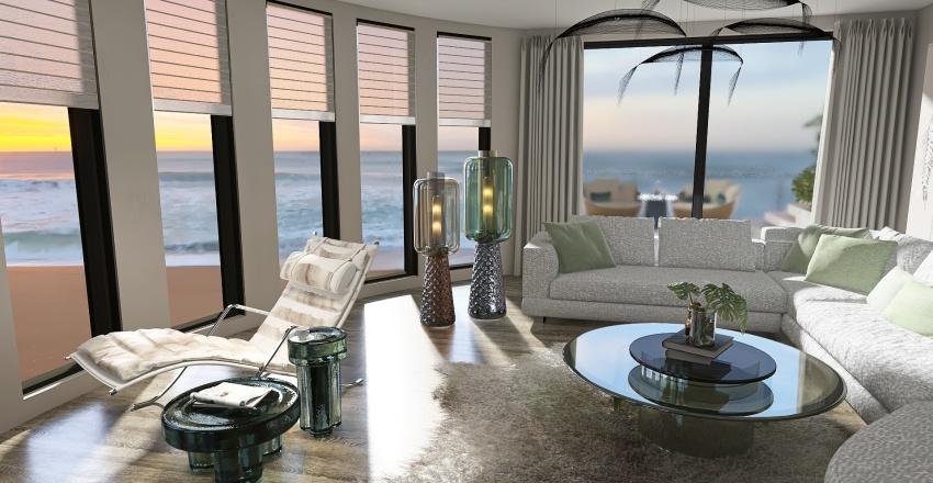Summer Vibes on the Beach Interior Design Render