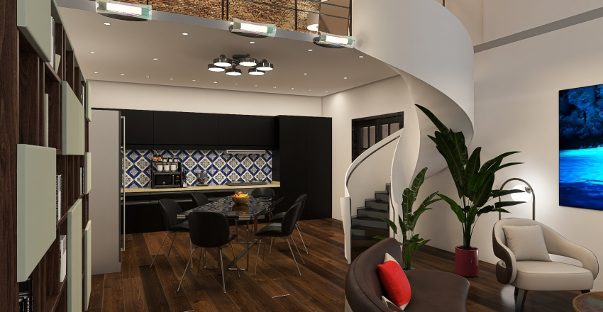 Garden House Interior Design Render