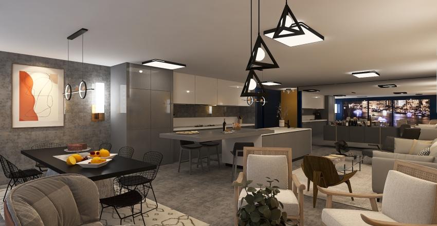 New York Apartament Interior Design Render