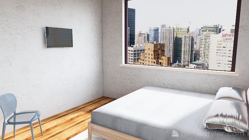 habitación de hotel 100 pesos Interior Design Render