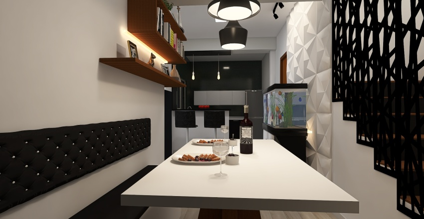 Sala Daniel corrimão Interior Design Render