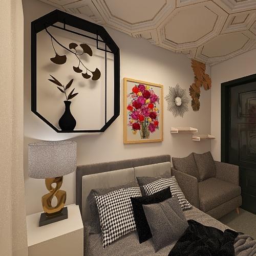 Teenage Girl Bedroom Interior Design Render